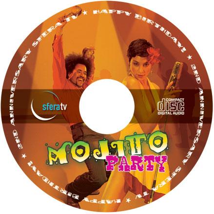 Тиражирование CD для тематической вечеринки в стиле Латино